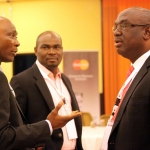 L-R Mr Tunde Kilaso CEO Berkeley Cupola Nigeria Ltd; Adeleke Adekoya Head, Payment Strategy Stanbic IBTC Bank and Chuma Ezirim Chairman, Committee of e-Banking Industry head at the 2012 annual Conference/Retreat of the CeBIH in Calabar,Cross Rivers State.