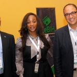 L-R Mr Chuks Iku, Pulicity Secretary Committee of e-Banking Industry Heads (CeBIH); Adelola Agbebiyi Business development Manager, Meditrranean Cards Comapny, Nigeria and Hany Fekry EMP Commercial Director during the 2012 Annual Conference/Retreat of CeBIH in Calabar, Cross Rivers state