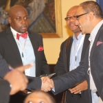 L-R Amit Wohl;Victor Ajua Country Manager Datagroup IT;Chuks Iku,Publicity secretary CeBIH and Hany Fekry EMP Commercial director at the 2012 annual Conference/Retreat of the CeBIH in Calabar,Cross Rivers State.