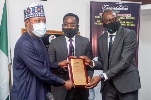 Courtesy Visit to The Honourable Minister,  Barr Mohammed Hassan Abdullahi,  Ministry of Science, Technology and Innovation